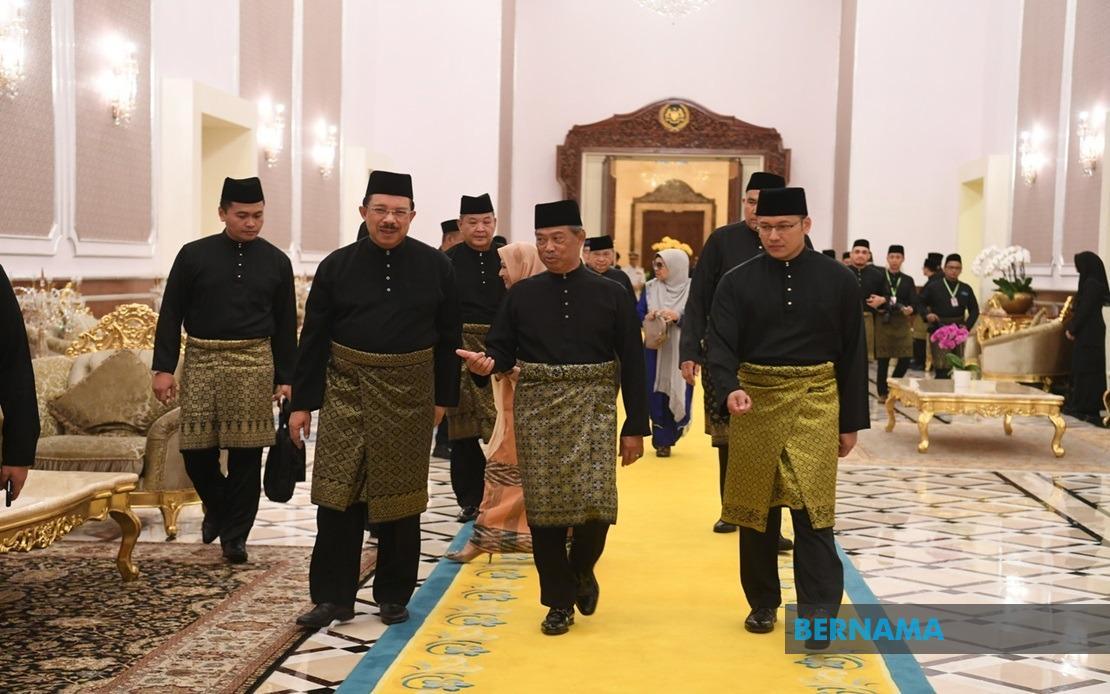 Image result for Muhyiddin angkat sumpah Perdana Menteri kelapan bernama